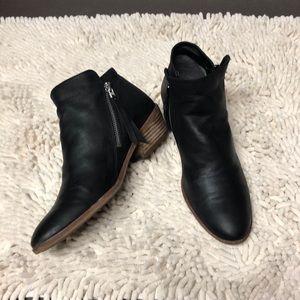 Sam Edelman Black Packer Almond Toe Ankle Bootie